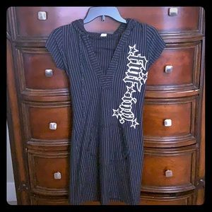 FMF black and white pin striped dress